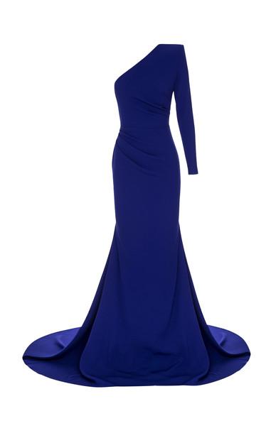 Alex Perry Alden One-Shoulder Satin Gown Size: 4 in purple
