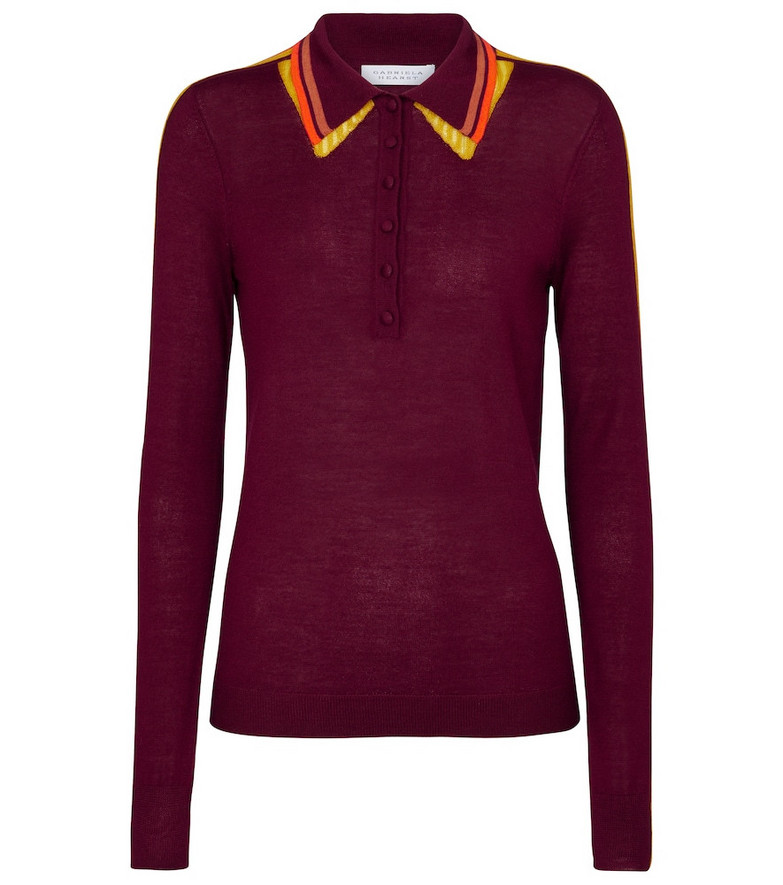 Gabriela Hearst Manuel cashmere and silk polo shirt in red