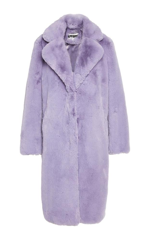 Apparis Siena Long Lined Coat in purple