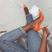 shoes,orange shoes