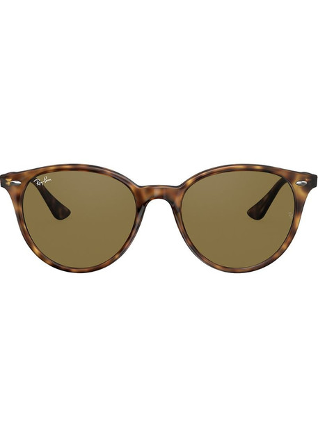 Ray-Ban round frame sunglasses in brown