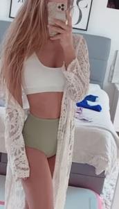 swimwear,white,olive green,bikini,bikini top,bikini bottoms