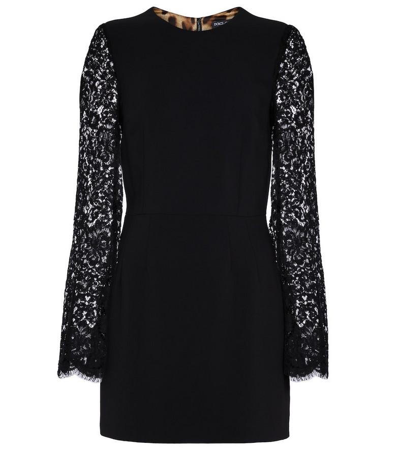 Dolce & Gabbana Lace sheath dress in black