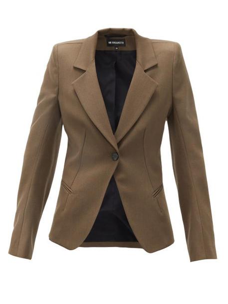 Ann Demeulemeester - Tailored Single-breasted Wool-twill Blazer - Womens - Khaki