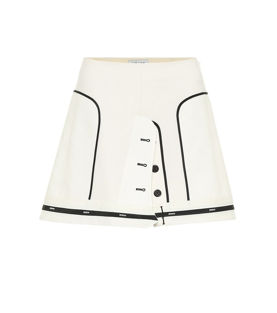 Monse Stretch wool-twill miniskirt in white