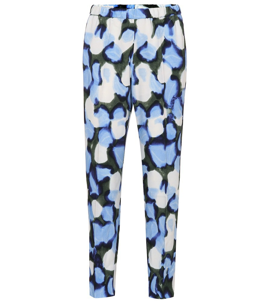 Dries Van Noten Printed high-rise straight pants