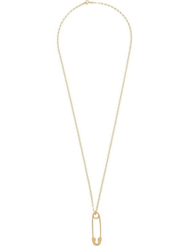 True Rocks safety pin necklace in gold