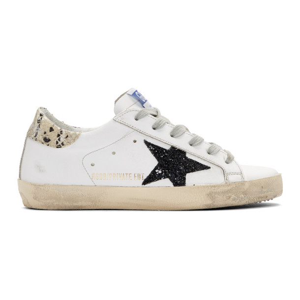 Golden Goose SSENSE Exclusive White Python Tab Superstar Sneakers