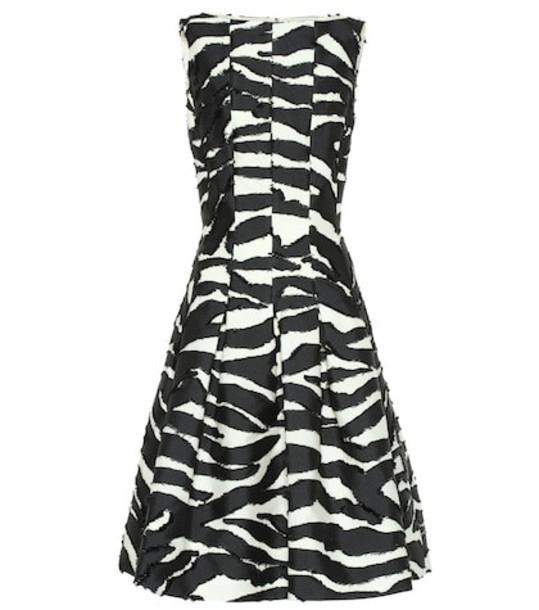 Oscar de la Renta Zebra dress in black