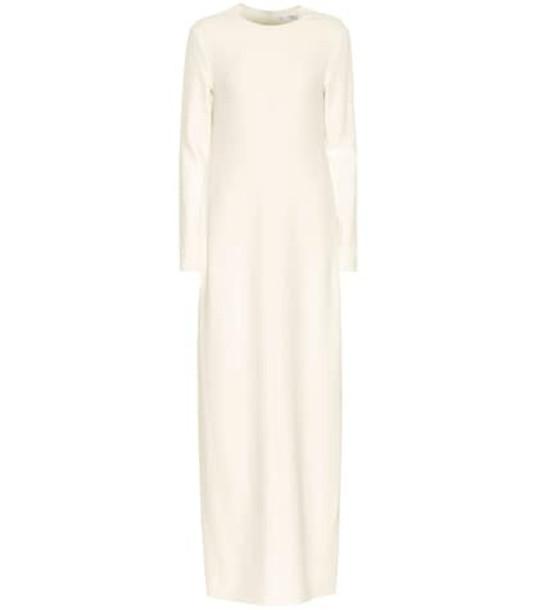 The Row Alloy crêpe maxi dress in white