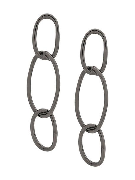 Federica Tosi interlink loop drop earrings in silver