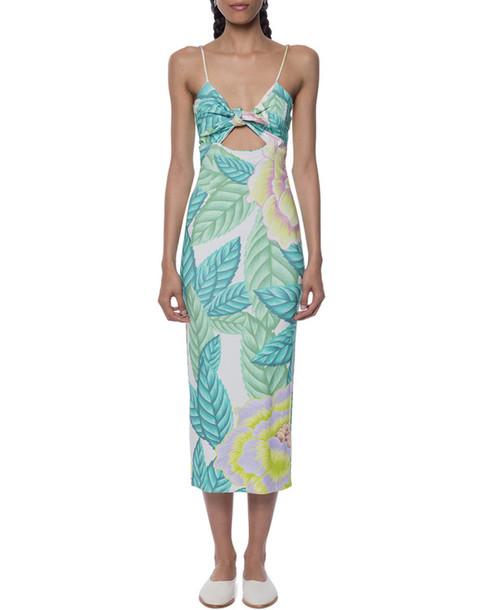 dress tropical midi dress keyhole dress summer dress