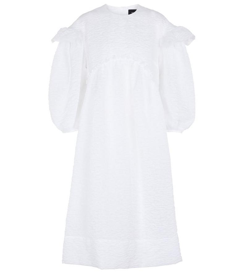 Simone Rocha Cloqué midi dress in white