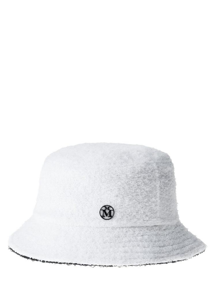MAISON MICHEL Jason Reversible Cotton Blend Hat in black / white
