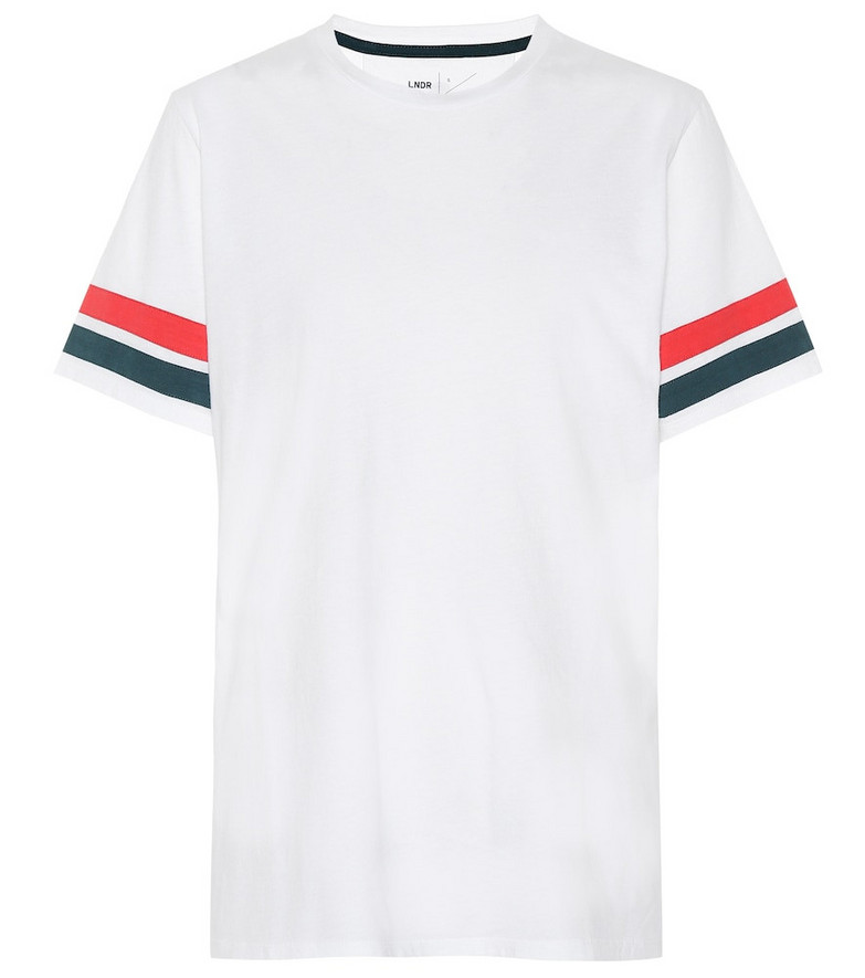 Lndr Stripe cotton jersey T-shirt in white
