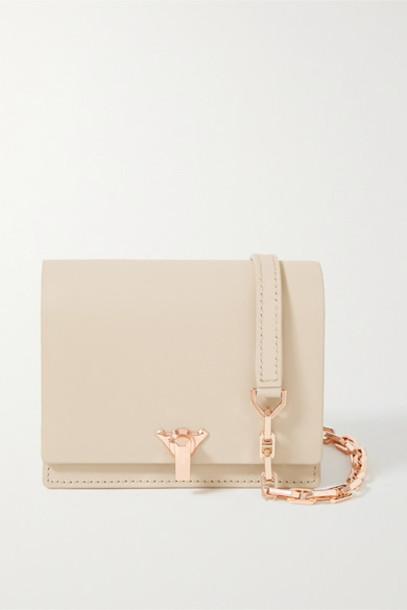 THE VOLON - Po Pocket Mini Leather Shoulder Bag - Beige