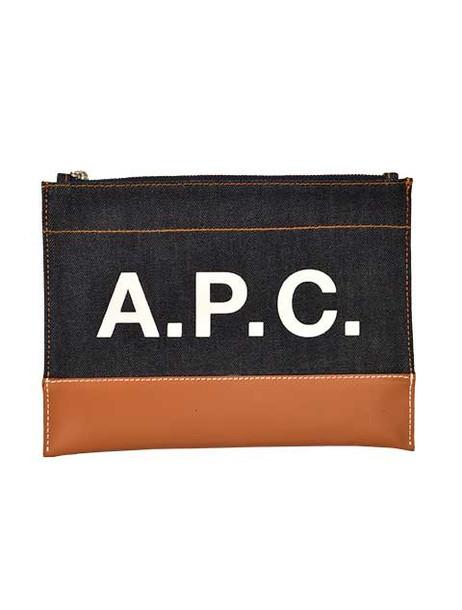 A.P.C. A.p.c. Logo Print Clutch