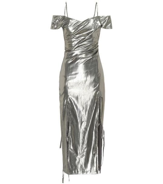 Rejina Pyo Adeline lamé dress in grey