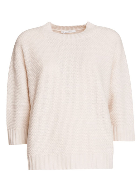 Max Mara Snack Sweater in bianco