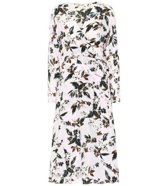 Diane von Furstenberg Elle floral silk wrap midi dress in pink