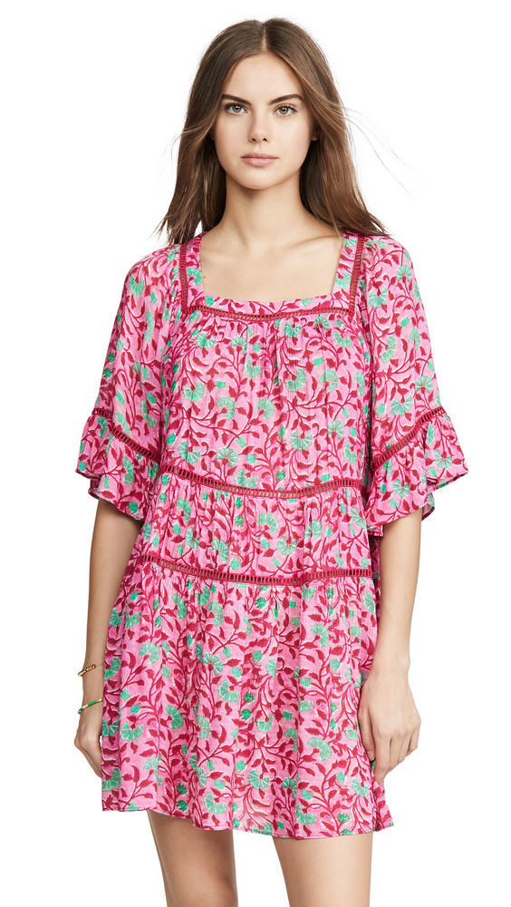 Playa Lucila Floral Dress in green / pink