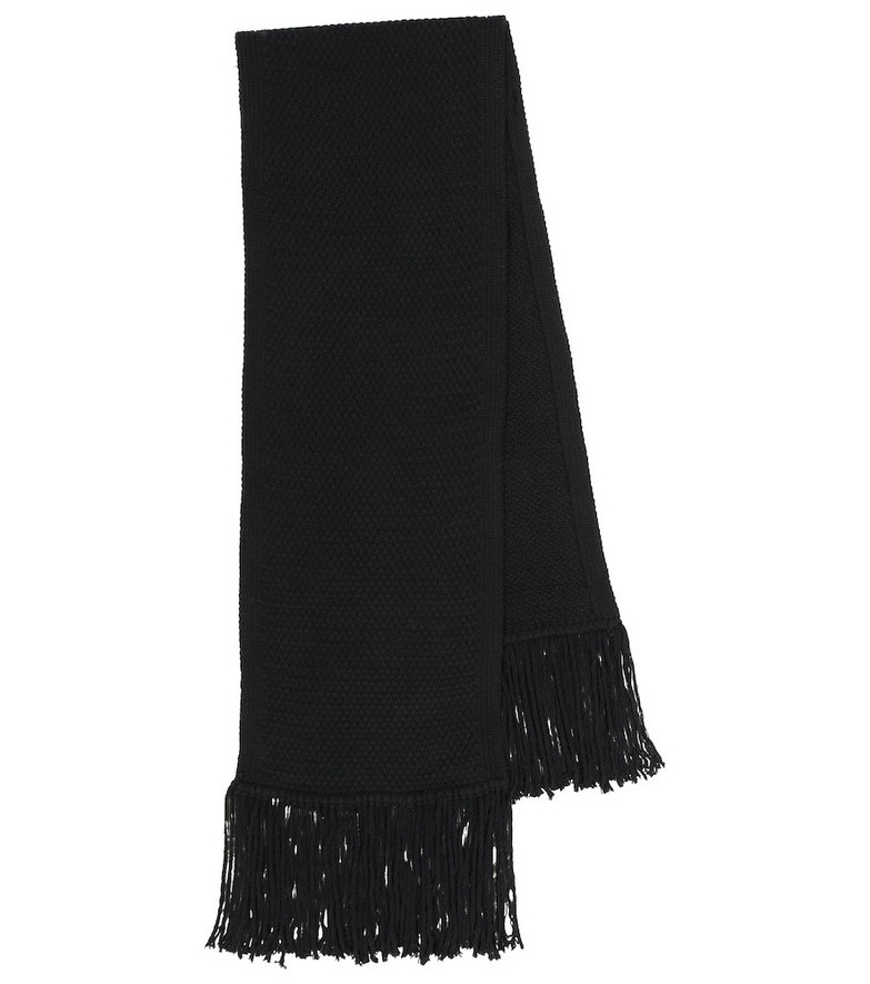 Burberry Exclusive to Mytheresa – Future Archive wool and cashmere scarf in black