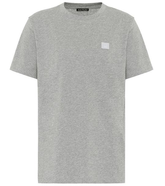 Acne Studios Ellison Face cotton T-shirt in grey