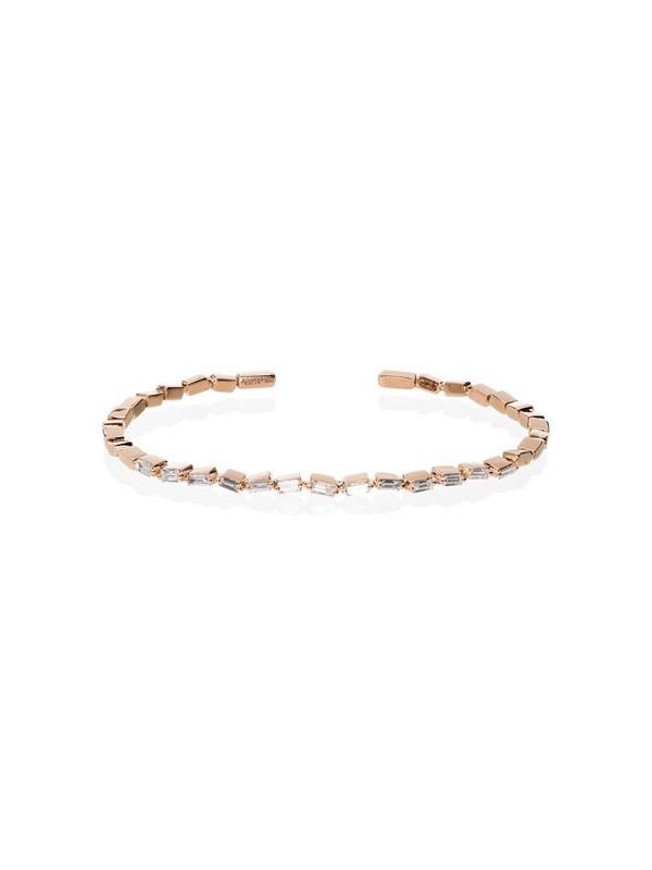 Suzanne Kalan Fireworks 18kt rose gold diamond cuff in metallic