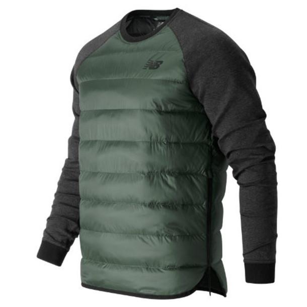 New Balance 63520 Men's Sport Style Down Sweatshirt - Grey (MT63520GVV)