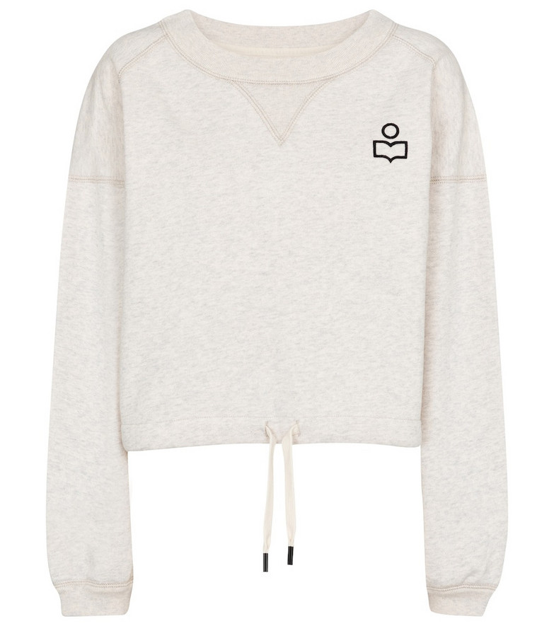 Isabel Marant Margo cotton-blend jersey sweatshirt in grey