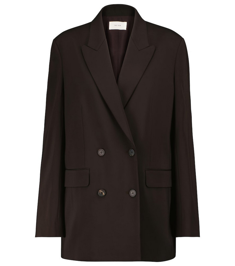 The Row Tristana double-breasted blazer in black