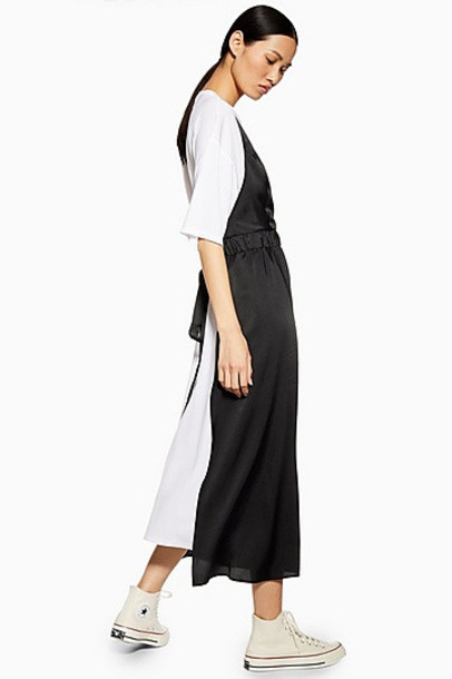 Topshop *Jersey Hybrid Dress By Boutique - Multi