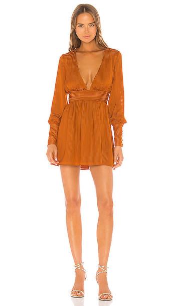 NBD Cara Mini Dress in Burnt Orange