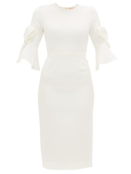 Roksanda - Lavete Bow Embellished Crepe Midi Dress - Womens - Ivory