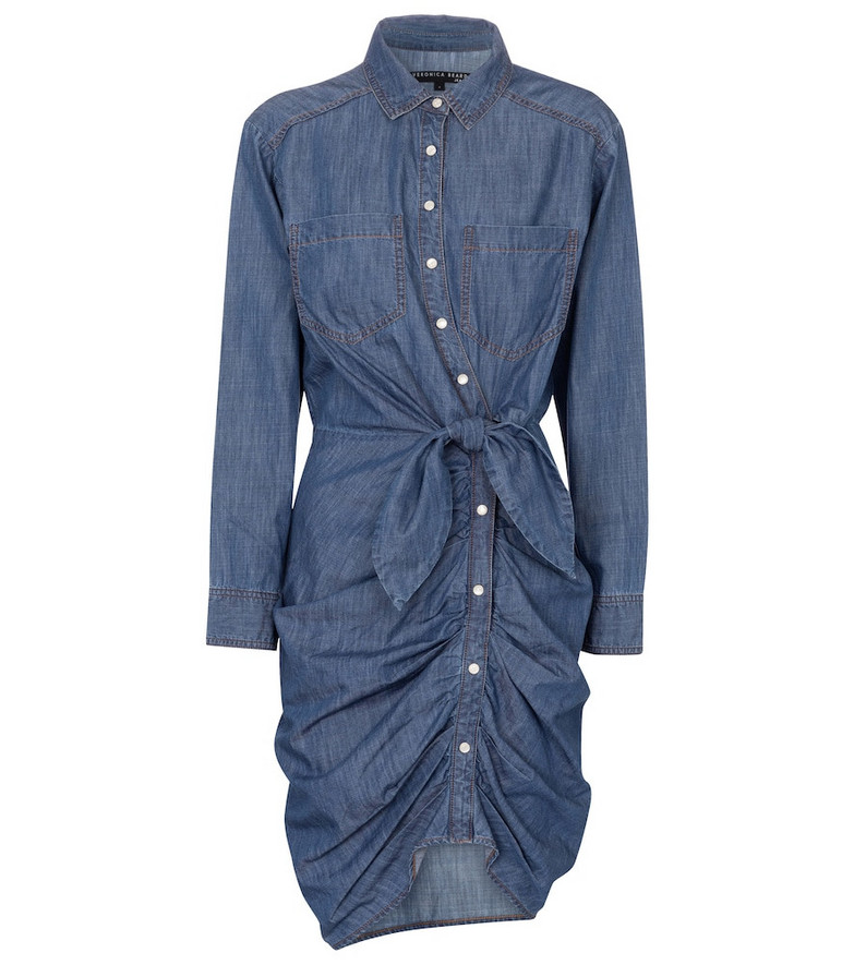Veronica Beard Sierra denim shirt dress in blue