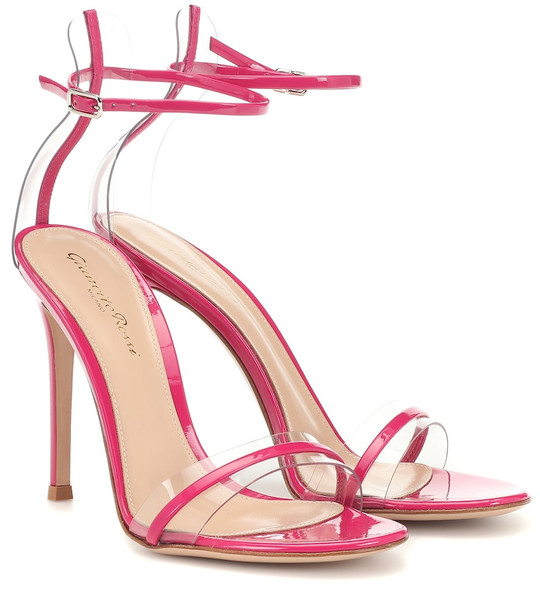 Gianvito Rossi G-string leather sandals in pink