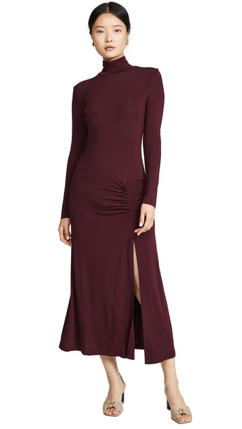 STAUD Portobella Dress in merlot