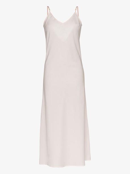 Pour Les Femmes Floor-length cotton slip nightdress in pink