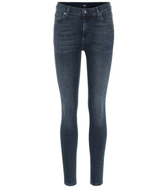 7 For All Mankind The Skinny high-rise jeans in blue