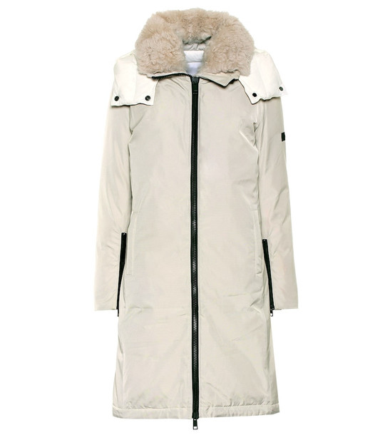 Yves Salomon Army shearling-trimmed down parka in white
