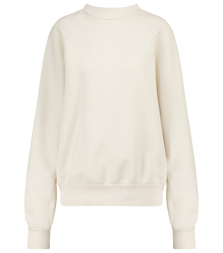 Les Tien Cotton fleece mockneck sweatshirt in white