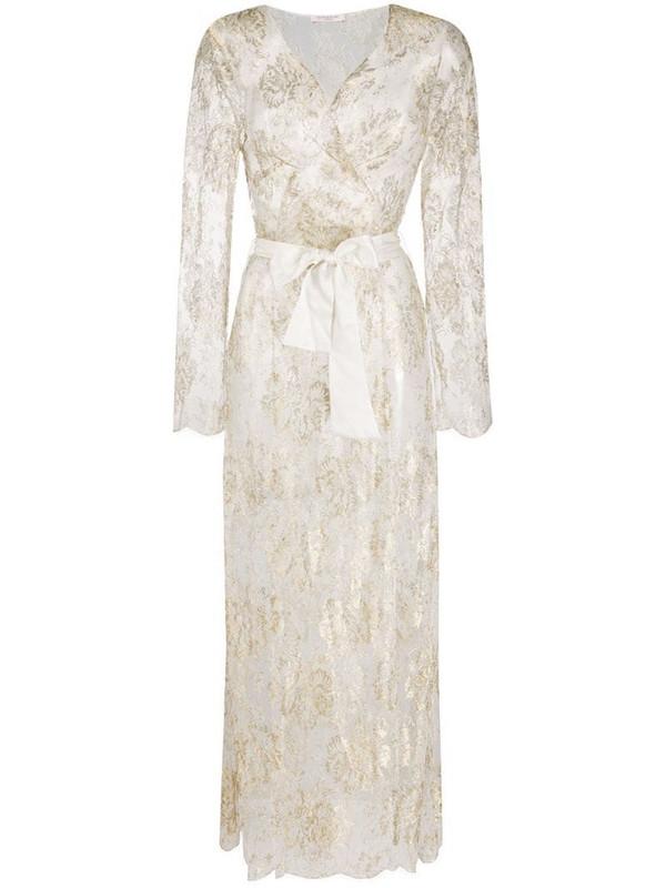 Gilda & Pearl sheer Reverie dressing gown in white