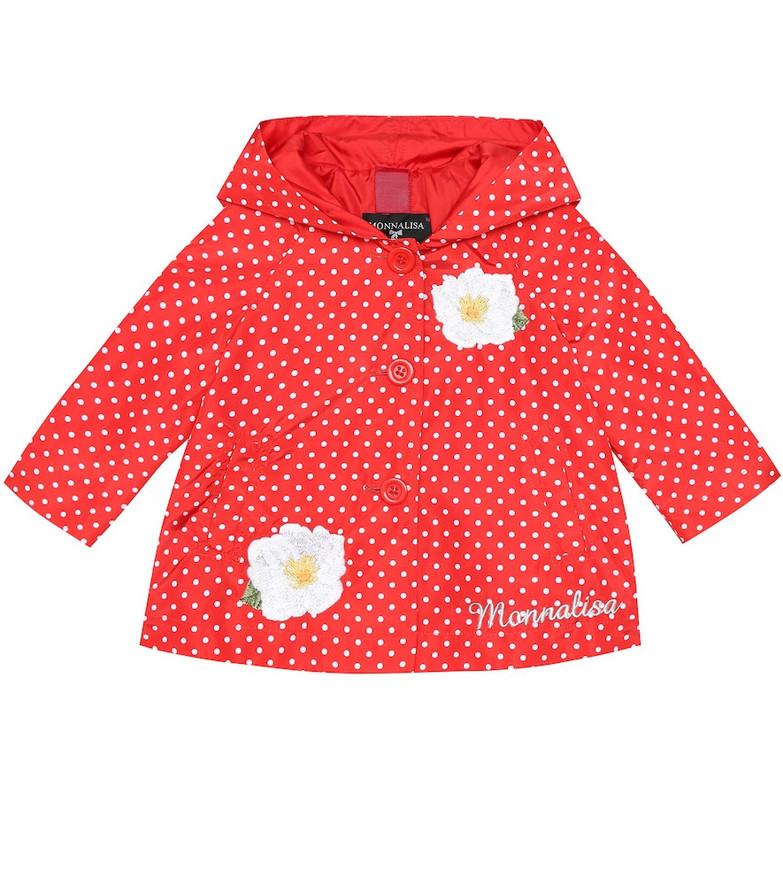 Monnalisa Baby printed jacket in red