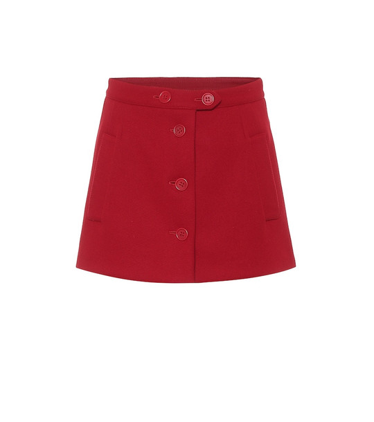 REDValentino Wool-blend shorts in red