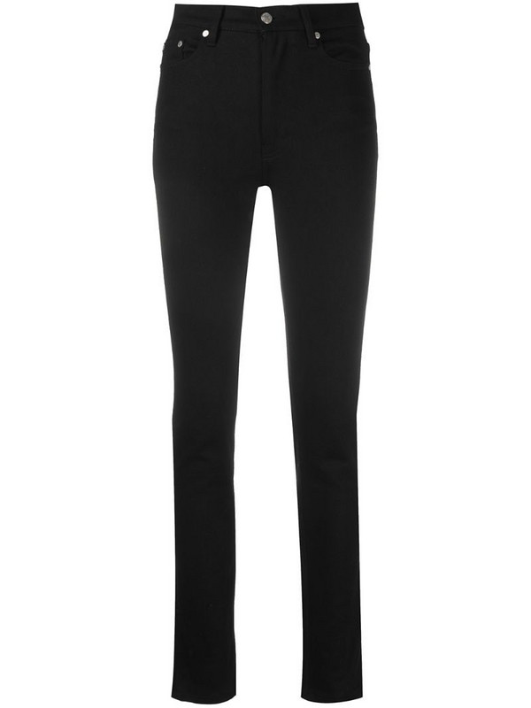 AMI Paris high-waisted slim-fit jeans in black