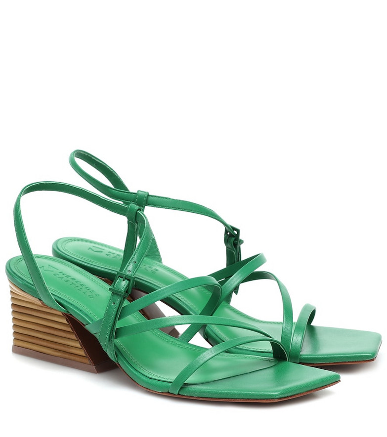Mercedes Castillo Kelise leather sandals in green