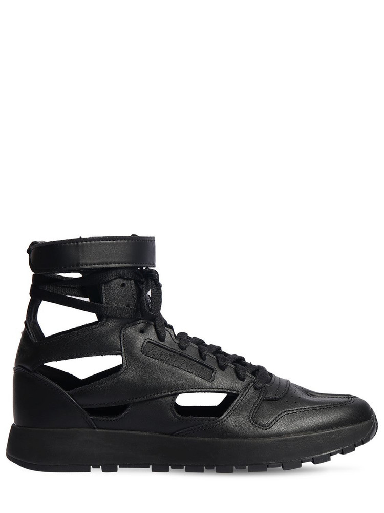 MAISON MARGIELA 20mm Reebok Leather High-top Sneakers in black