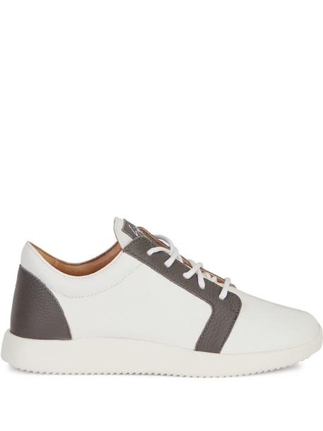 Giuseppe Zanotti two-tone low-top sneakers in white