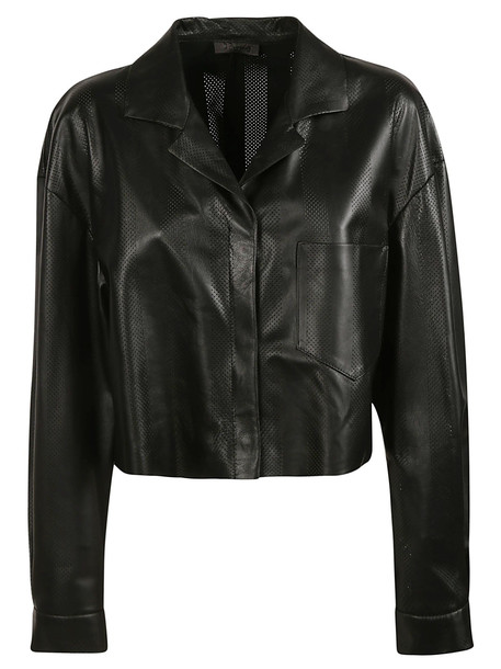 Drome Cropped Jacket in black