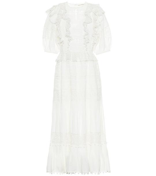 Ulla Johnson Guinivere cotton-blend maxi dress in white